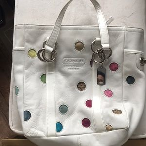 RARE polka dot coach purse!